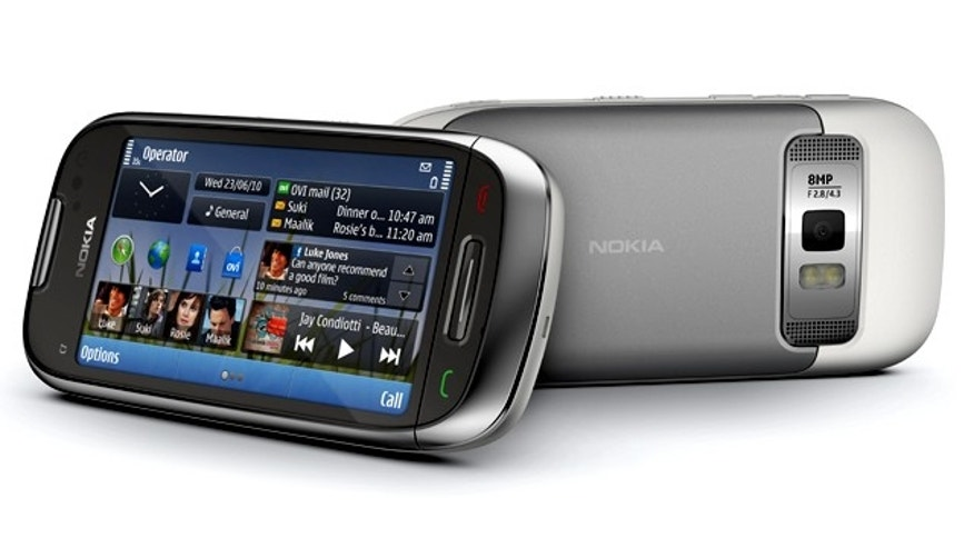 The New Nokia C7, one of a handful of new smartphone models unveiled by Nokia at an event Monday.
