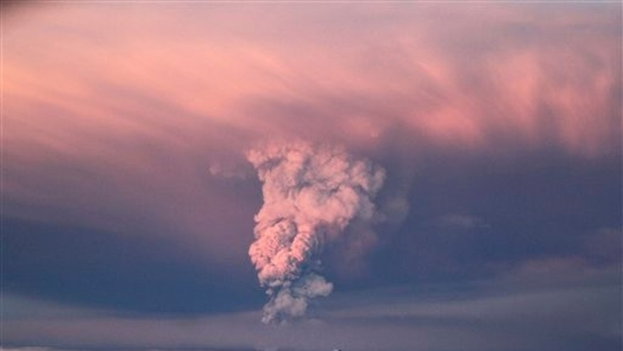 May 21, 2011: Smoke plumes from the Grimsvotn volcano, which lies under the Vatnajokull glacier, about 120 miles, (200 kilometers) east of the capital, Rejkjavik, which erupted Saturday for the first time since 2004.
