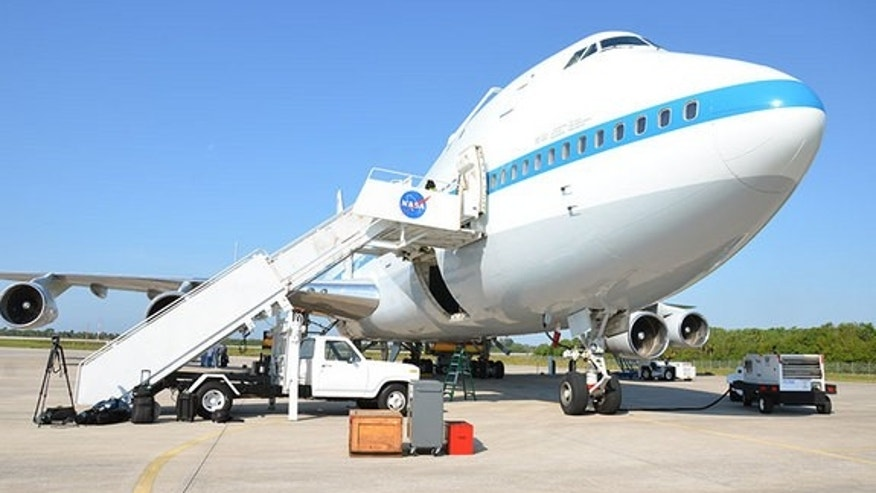 NASA's original Shuttle Carrier Aircraft, a modified Boeing 747-100 known by its tail number, NASA 905 (N905NA), first flew passengers as an American Airlines jetliner in the early 1970s.