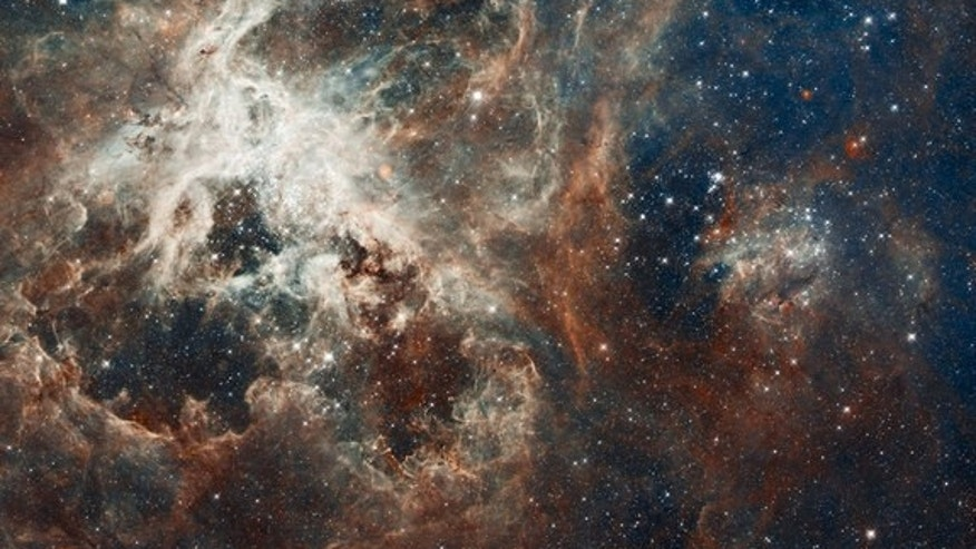 This photo from the Hubble Space Telescope shows the heart of the Tarantula nebula, a region teeming with star formation.