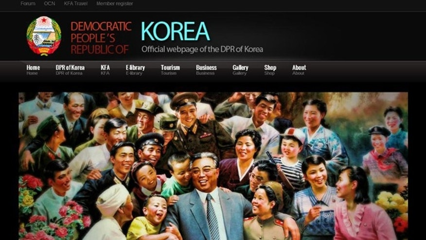 An official website promotes the culture and society of North Korea -- and it was designed with a $15 template created by a South Californian designer.