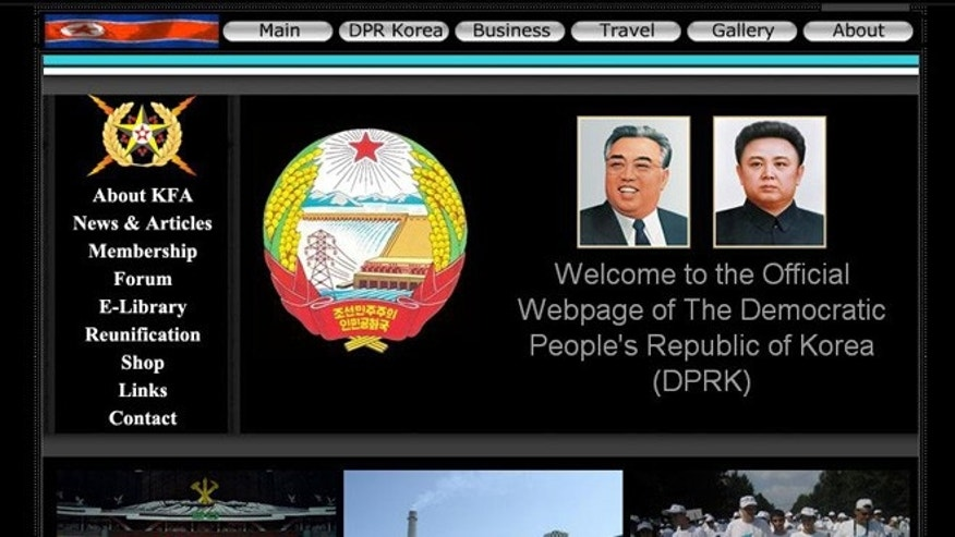 The old version of the North Korean website, prior to a recent update with a flashy new design.