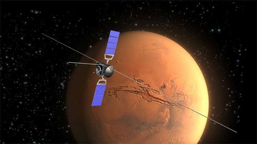 The Mars Express spacecraft's MARSIS collects data on the subsurface of Mars.