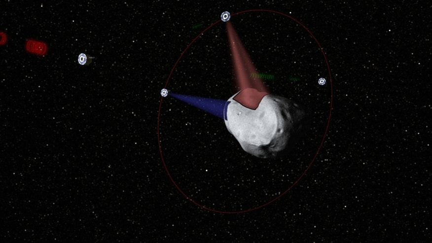 A conceptual rendering of satellites prospecting a water-rich, near-Earth asteroid. Planetary Resources' mega-million dollar plan is to use commercially built robotic ships to squeeze rocket fuel and valuable minerals like platinum and gold out of the lifeless rocks that routinely whiz by Earth.