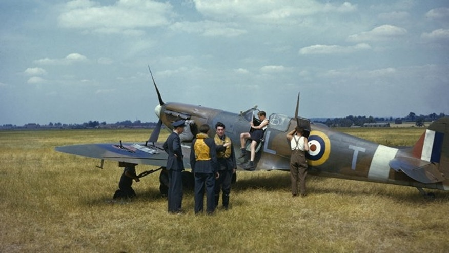 The Spitfire airplane -- designed as a short-range, high-performance interceptor aircraft -- is seen here during the Battle of Britain in a WWII-era photo.