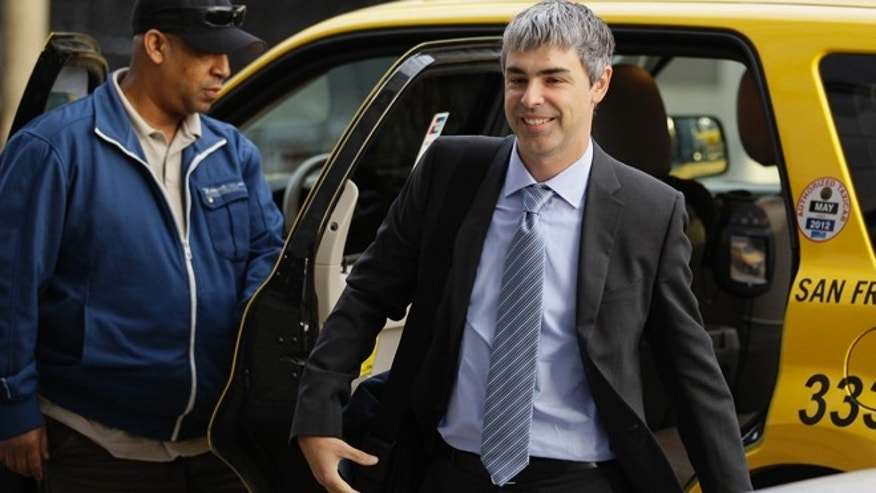 April 18, 2012: Google CEO Larry Page walks into a federal building in San Francisco to testify in a legal battle against Oracle. A day earlier, Oracle CEO Larry Ellison acknowledged he wanted to compete against Android in the smartphone market before deciding instead to sue his potential rival for copyright and patent infringement.