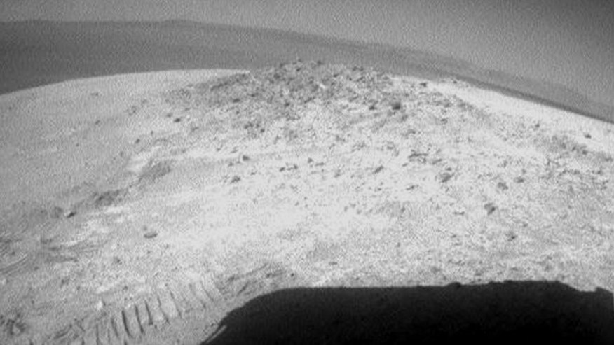 May 8, 2012: Opportunity started driving again this week -- and snapped this undated photo of Mars -- after spending 19 weeks in one spot conducting science experiments.