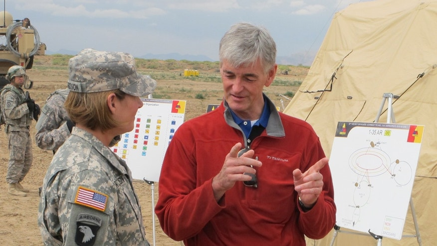"May 09, 2012: U.S. Army Secretary Hon. John McHugh toured the exercises at White Sands. ""This is one of the most important things, strategically, that this army has taken up in recent years,"" he said."