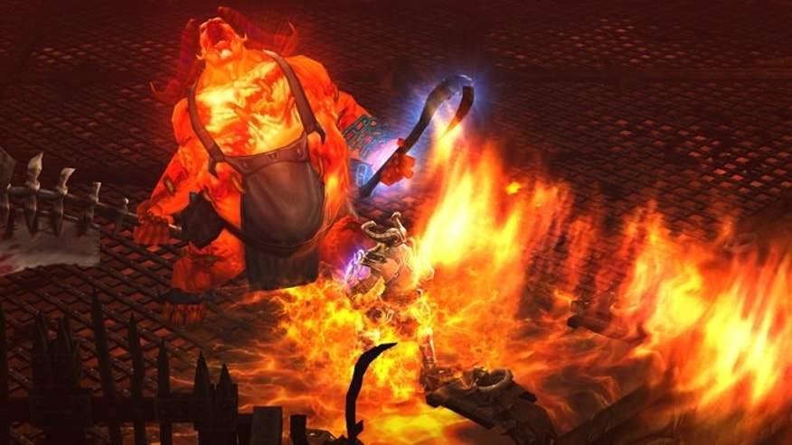 "May 15, 2012: A screenshot from the hotly anticipated video game ""Diablo III,"" in which characters battle demonic forces from ""The Burning Hells."""