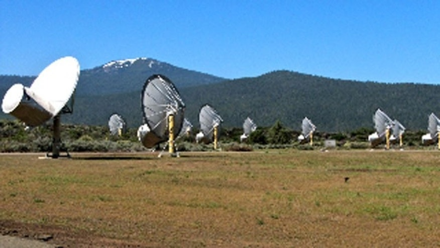 Allen Telescope Array located in Hat Creek, California.