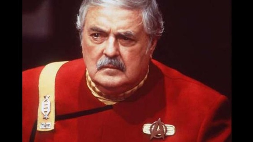 "James Doohan as Montgomery ""Scotty"" Scott."