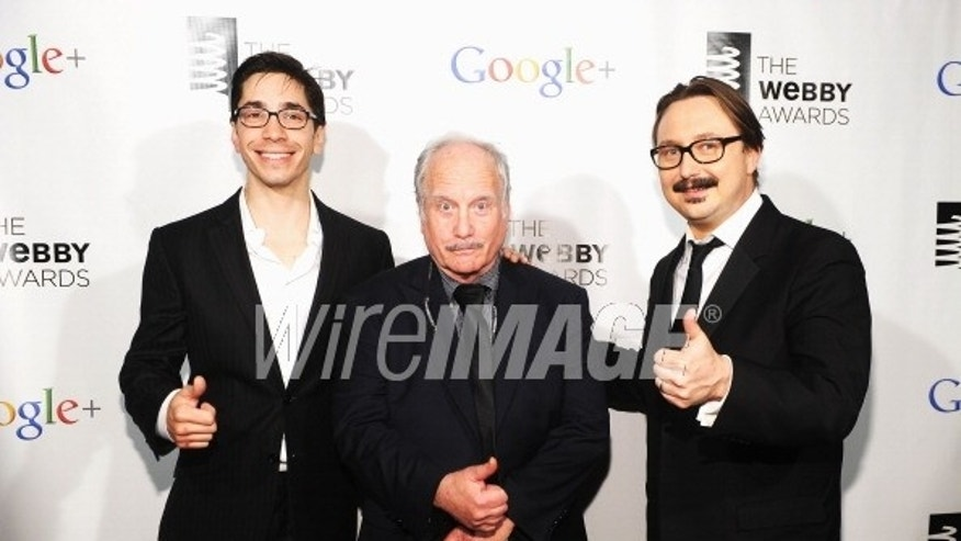 May 21, 2012: Actors Justin Long, Richard Dreyfuss and John Hodgman attend the 16th Annual Webby Awards in New York City.
