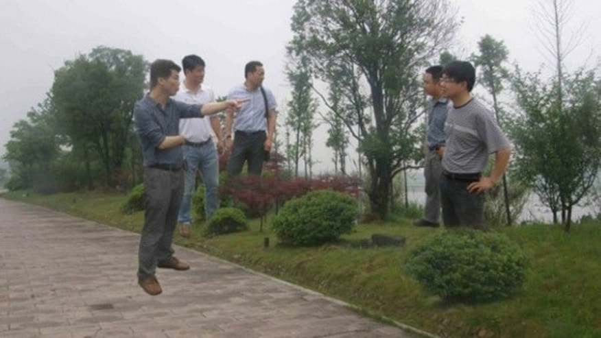 Officials from this Chinese province aren't actually inspecting the road.