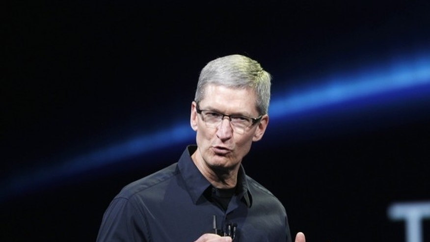 Tim Cook introducing the new iPad this past March.