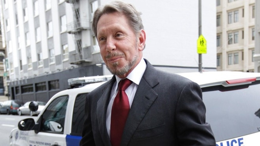 April 17, 2012: Oracle CEO Larry Ellison arrives for a court appearance at a federal building in San Francisco. Oracle relied heavily on Google's own internal emails to argue Google's top executives knew they were stealing a popular piece of technology to build the Android software.