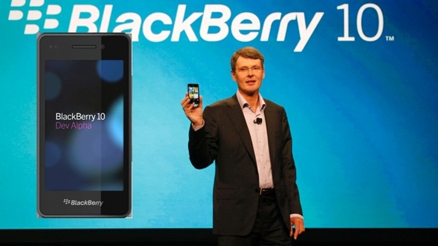 May 1, 2012: Thorsten Heins, president and CEO of Research In Motion, the company that makes BlackBerry, delivers the keynote speech during the BlackBerry World conference, in Orlando Fla.