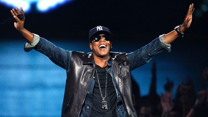 "Sept. 13, 2009: Jay-Z performs ""Empire State of Mind"" at the 2009 MTV Video Music Awards in New York."