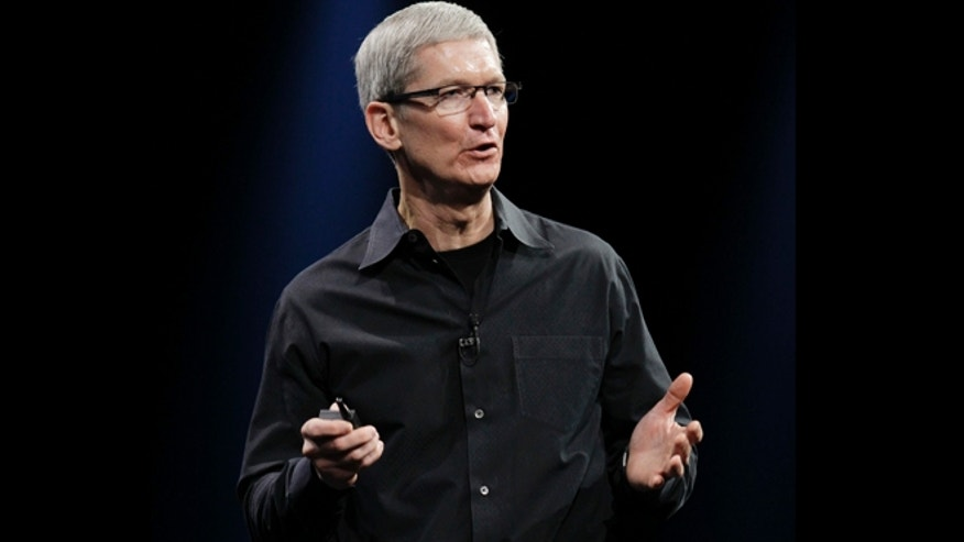 June 11, 2012: Apple CEO Tim Cook speaks at the Apple Developers Conference in San Francisco.