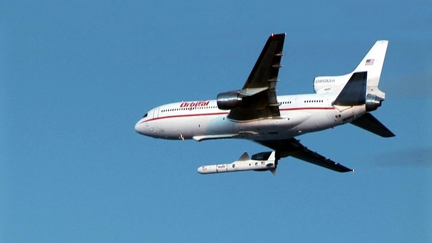 The Orbital Science Corporation&#39&#x3b;s &quot&#x3b;Stargazer&quot&#x3b; plane is shown releasing its Pegasus rocket in an earlier mission. NASA&#39&#x3b;s NuSTAR mission is scheduled to launch from Kwajalein Atoll in the central Pacific Ocean on June 13, 2012, to hunt for black holes and other exotic objects using specialized X-ray eyes.