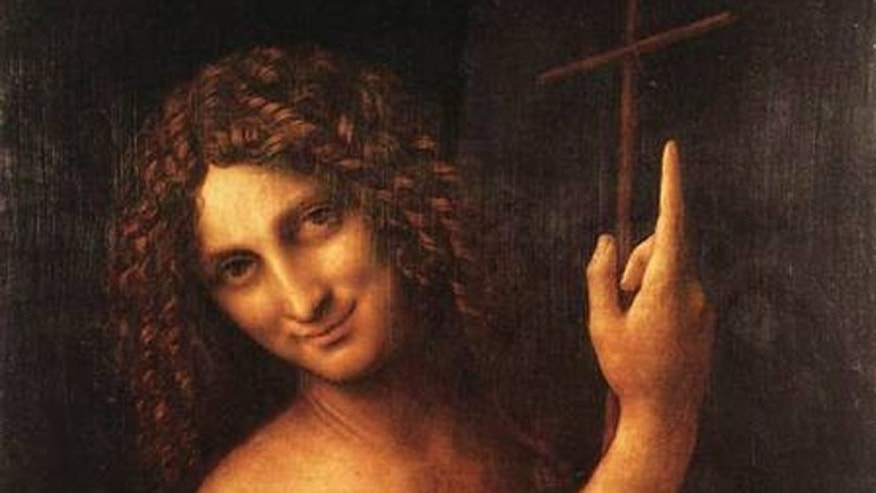 St. John the Baptist, as painted by Leonardo Da Vinci.