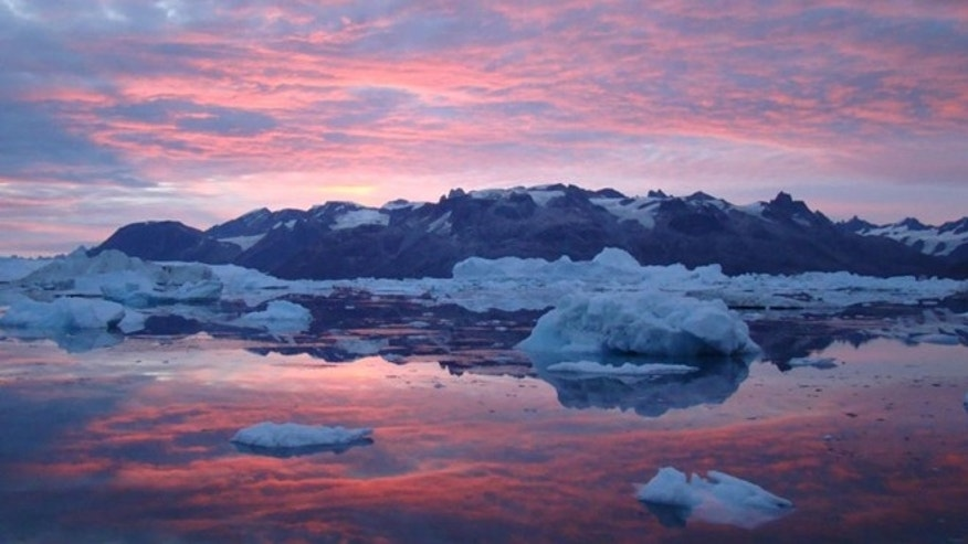 "Icebergs melt in a Greenland Fjord as pink clouds reflect in the water. ""ts hard to describe the beauty and inspiration of the places in which we work,"" said photographer and glaciologist Tavi Murray."" I am a scientist rather than an artist or photographer but a landscape like this talks directly to my soul."""
