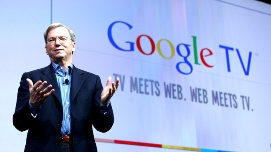 May 20, 2010: Google CEO Eric Schmidt talks about Google TV at the Google conference in San Francisco. Google Inc. believes it has come up with the technology to unite Web surfing with channel surfing on televisions.