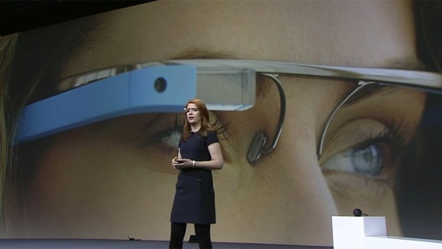 June 27, 2012: Isabelle Olsson, an engineer on the Google Glass project, discusses the futuristic gizmo during the company's I/O developer conference in San Francisco.