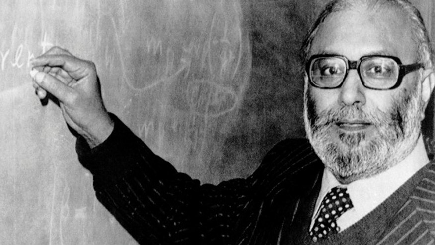 The first Pakistani Nobel Prize laureate, Professor Abdus Salam, pictured in London, England in 1979 after he heard the news that he was joint winner of the 1979 Nobel Prize for Physics.