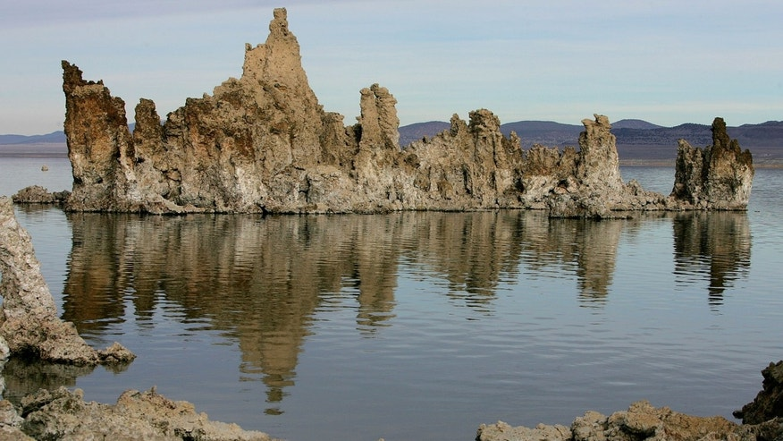 FILE: This photo shows tufa towers in Mono Lake near Lee Vining, Calif.