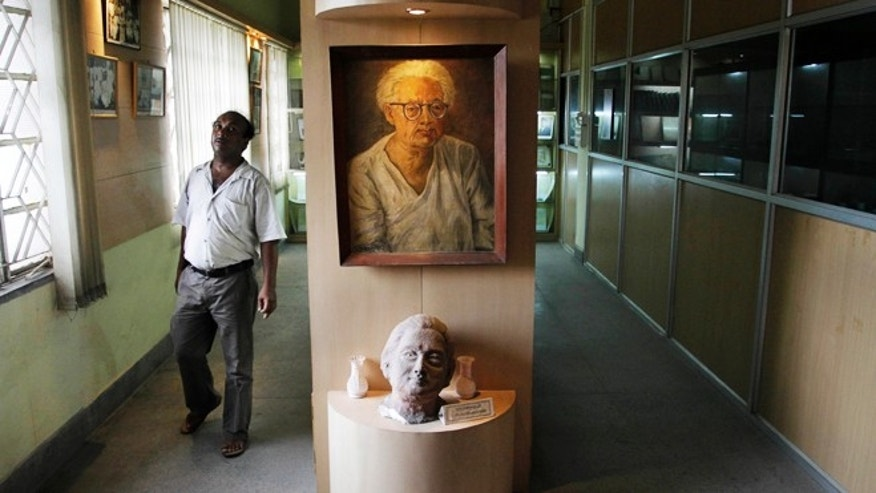 July 10, 2012: A portrait of Indian scientist Satyendranath Bose, is displayed at the Bangiya Vigyan Parishad or the Bengal Science Society founded by Bose in Kolkata, India.
