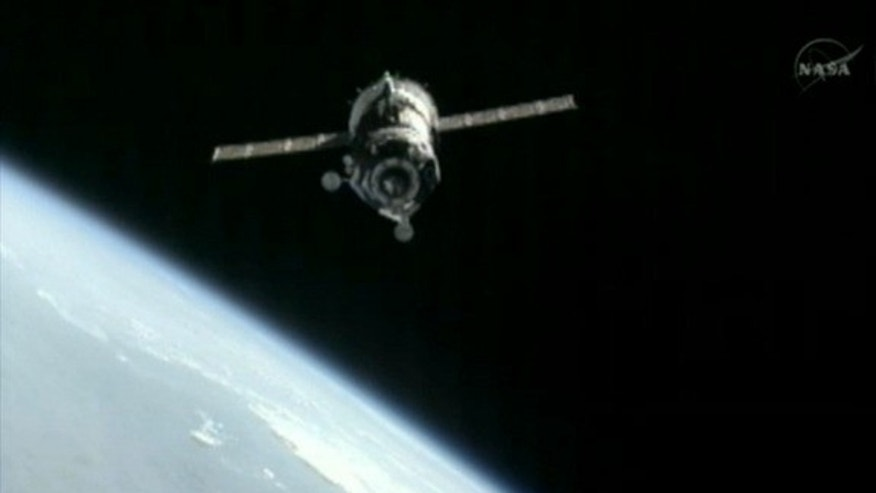 July 17, 2012: A Soyuz TMA-05M spacecraft nears the International Space Station ahead of docking to deliver three new residents.