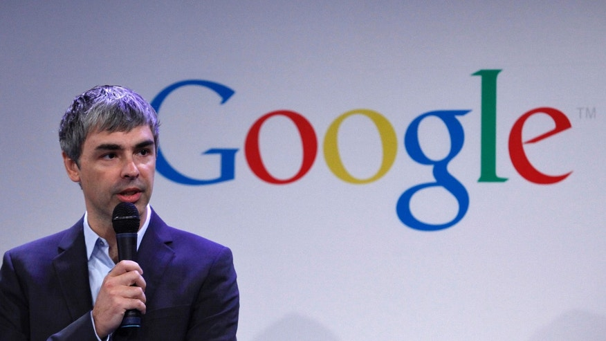 May 21: Google CEO Larry Page speaks during a press announcement at Google's headquarters in New York.