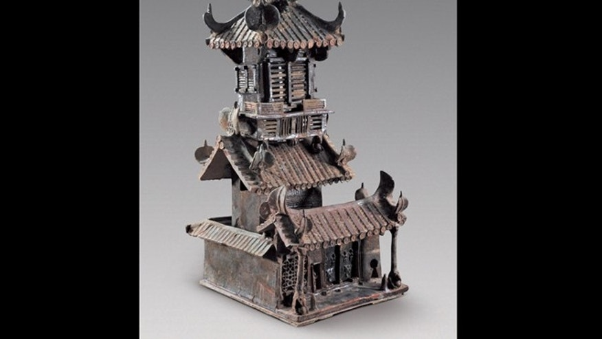 Miniature models like this gives clues as to what ancient houses in China may have actually looked like.