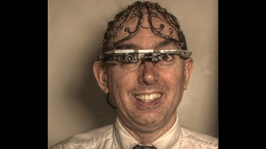 Human cyborg and University of Toronto Professor Steve Mann, who claims he was brutalized and kicked out of a Paris McDonalds earlier this month.