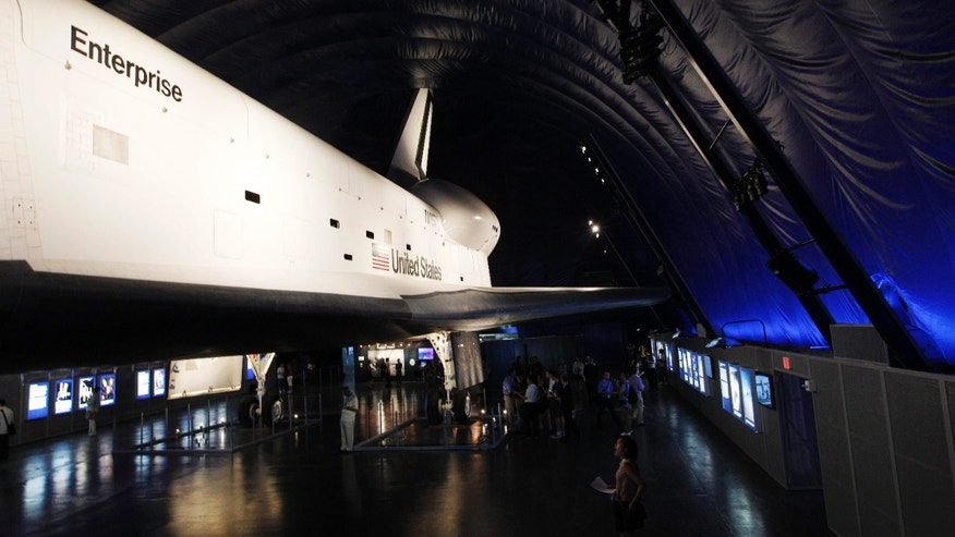 July 18, 2012: The Space Shuttle Enterprise sits on display at the Sea, Air and Space Museum's Space Shuttle Pavilion in New York. The Pavilion will be open to the public Thursday, July 19.