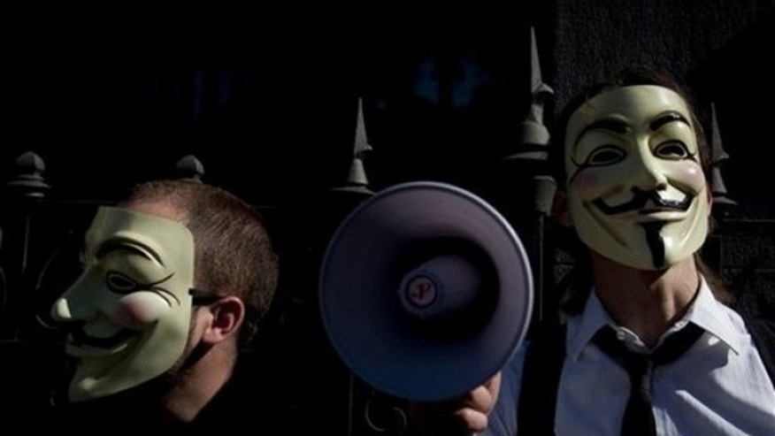 Hacker collective 'Anonymous' (pictured) breached security firm Stratfor in December.