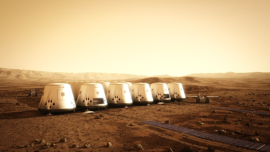 An artist's depiction of Mars One's planned habitat on the Red Planet. Mars One is a not-for-profit organization that will establish a human settlement on Mars through the integration of existing, readily available technologies from the private space industry.
