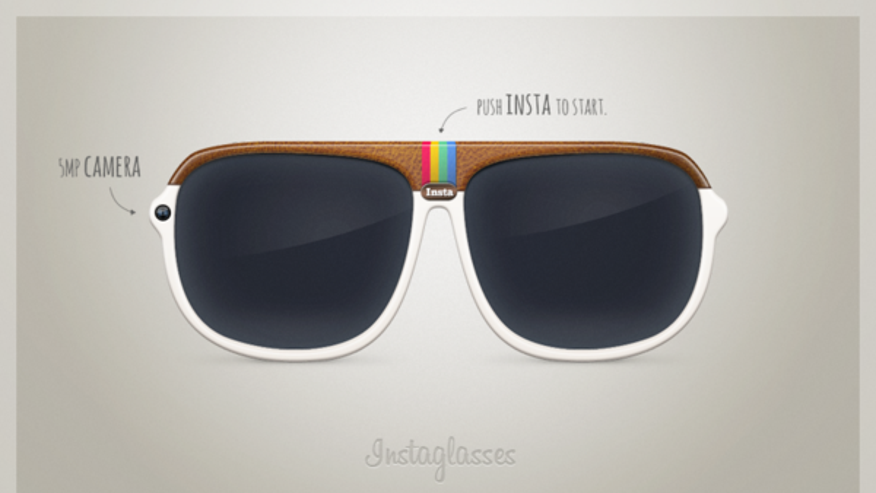A concept that integrates eyewear and Instagram will allow a wearer to view the world in Instagram filters and capture photos.