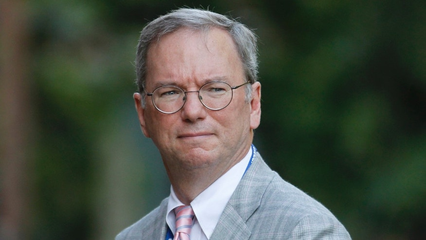 July 26, 2012- Executive Chairman of Google Eric Schmidt looks on during a reception, hosted by Britain's Prince Charles, at Clarence House in London for the delegates of the Global Investment Conference.