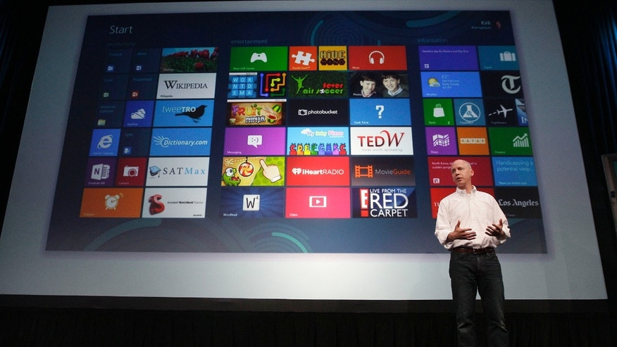 July 16, 2012: Kirk Koenigbauer, Corporate Vice President of Microsoft Office Division, speaks at a Microsoft event in San Francisco. Microsoft unveiled a new version of its widely used, lucrative suite of word processing, spreadsheet and email programs Monday, one designed specifically with tablet computers and Internet-based storage in mind.