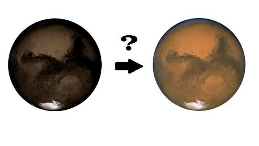 Mars is red now, but it may have looked like charcoal in the past.