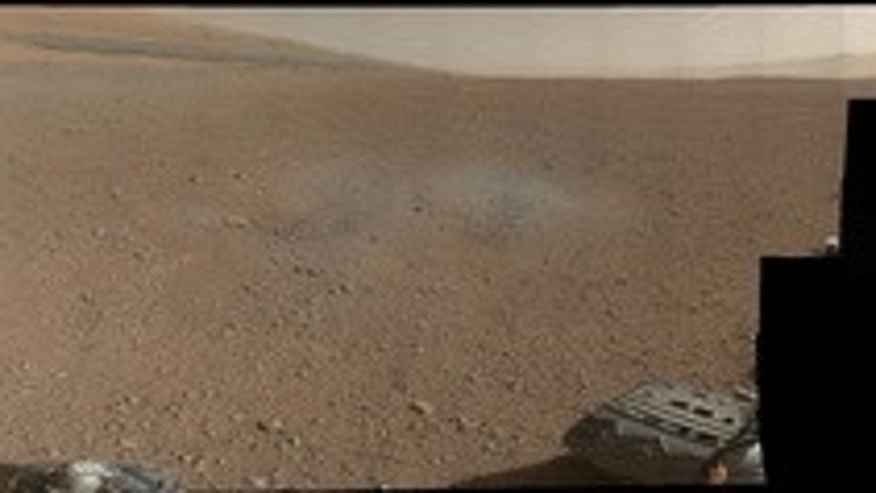 This is the first 360-degree panorama in color of the Gale Crater landing site taken by NASA's Curiosity rover. The panorama was made from thumbnail versions of images taken by the Mast Camera. The images were taken late Aug. 8 PDT (Aug. 9 EDT)