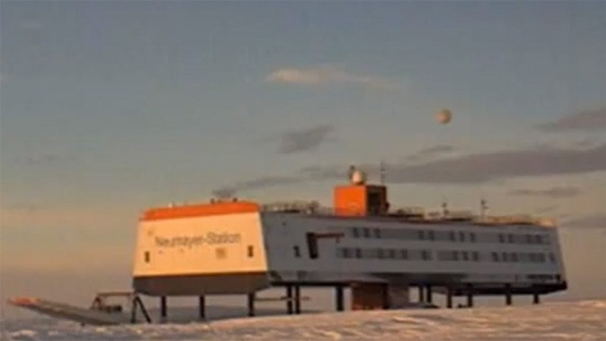 This YouTube screenshot reveals the blurry object floating above the Neumayer-Station III in Antarctica on Aug. 10, 2012. The object has garnered plenty of UFO claims.