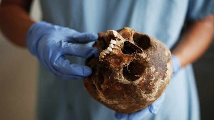 "Newly found fragments of human skull from ""the Cave of the Monkeys"" in Laos are the earliest skeletal evidence yet that humans once had migrated to Asia."