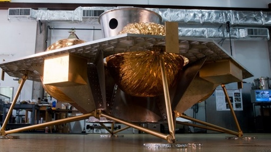 The Griffin lander shown here would deploy one Google Lunar X Prize competitor's design, a mobile robot built by Astrobotic Technology Inc., a Pittsburgh, Pa.-based company.