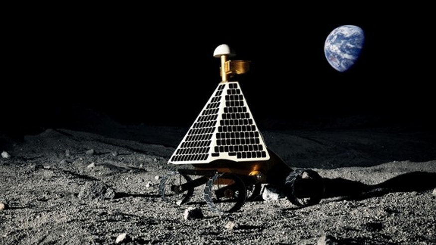 One Google Lunar X Prize competitor's design, built by Astrobotic Technology Inc., a Pittsburgh, Pa.-based company.