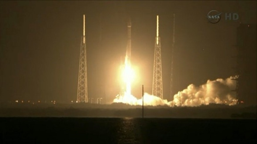 NASA's twin Radiation Belt Storm Probes launch into orbit atop a United Launch Alliance Atlas 5 rocket from Cape Canaveral Air Force Station, Fla., at 4:05 a.m. EDT on Aug. 30, 2012.