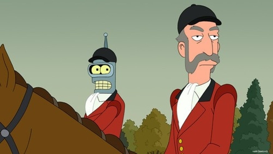 """Star Trek: The Next Generation"" alum Patrick Stewart plays a character called the Huntmaster (right) in a season seven episode of ""Futurama."""