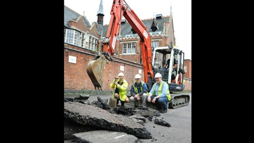 Archaeologists begin removing tarmac at the parking lot where King Richard III's remains are believed to be buried.
