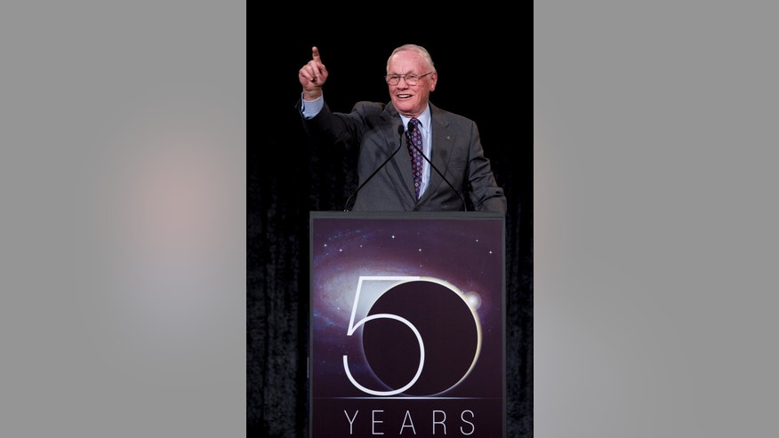 Astronaut. Professor. United States Naval Aviator. First man on the moon. Neil Armstrong, a man who is all these things, addresses guests at NASA's 50th anniversary celebration in 2008.